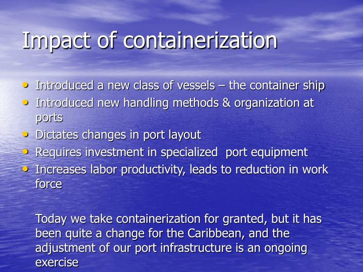 Impact of containerization