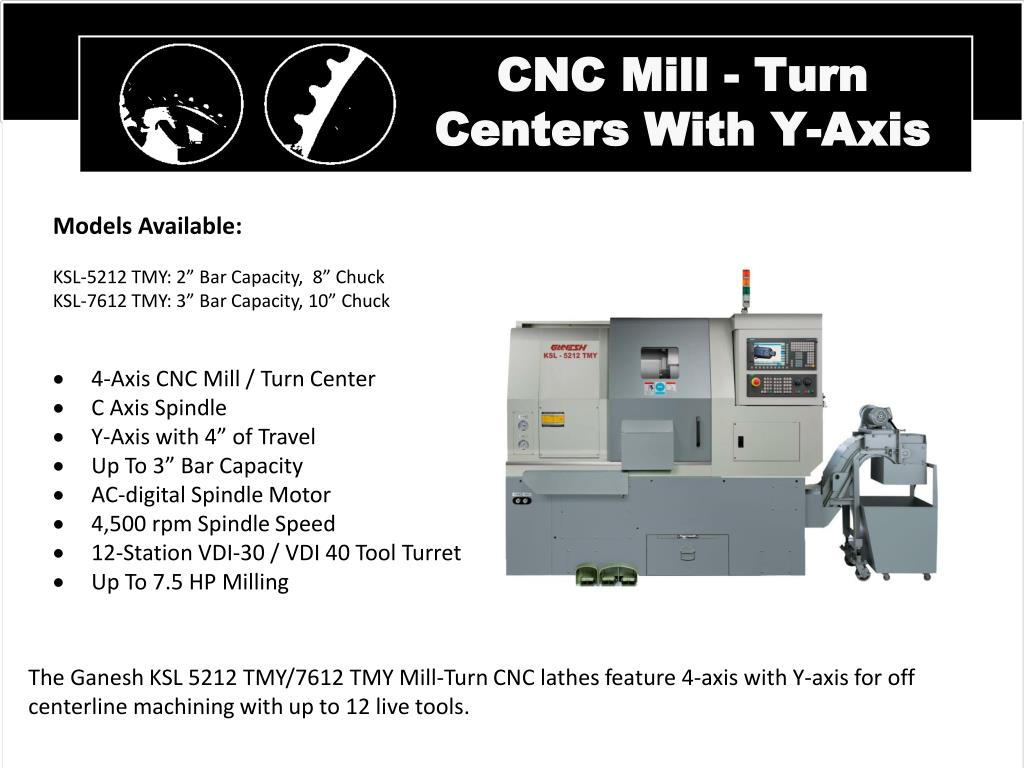 CNC Mill - Turn Centers With Y-Axis