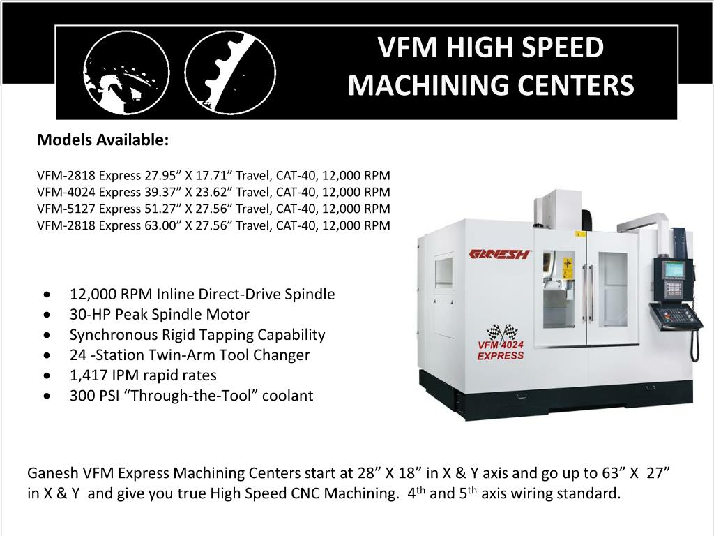 VFM HIGH SPEED MACHINING CENTERS