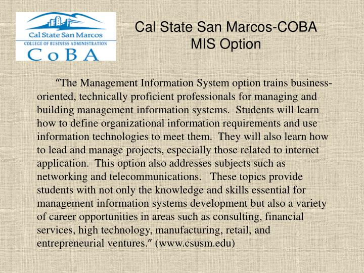 Cal State San Marcos-COBA