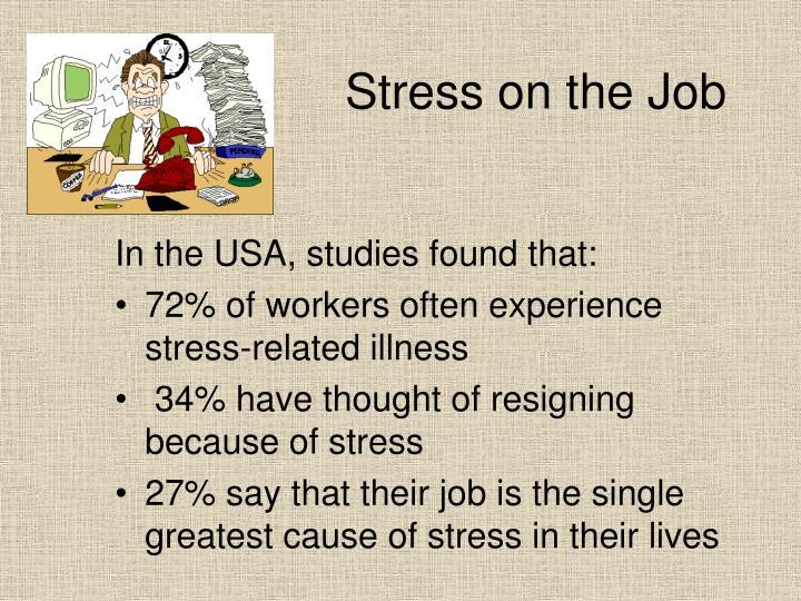Stress on the Job
