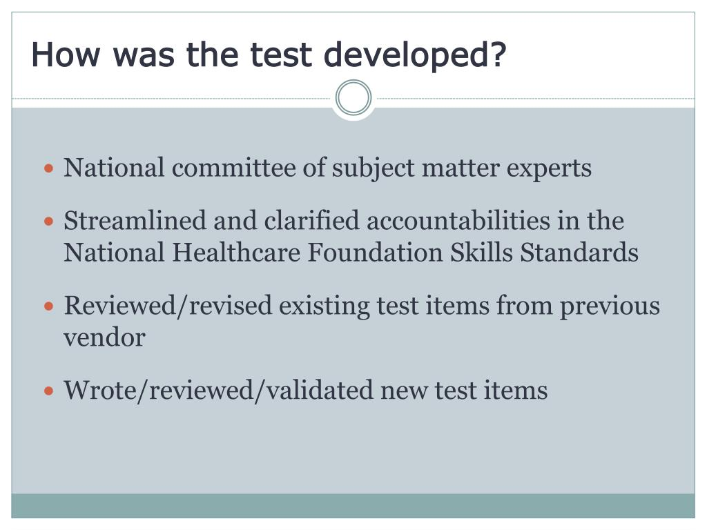 How was the test developed?