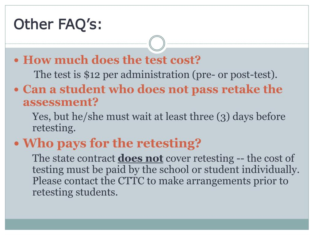 Other FAQ's: