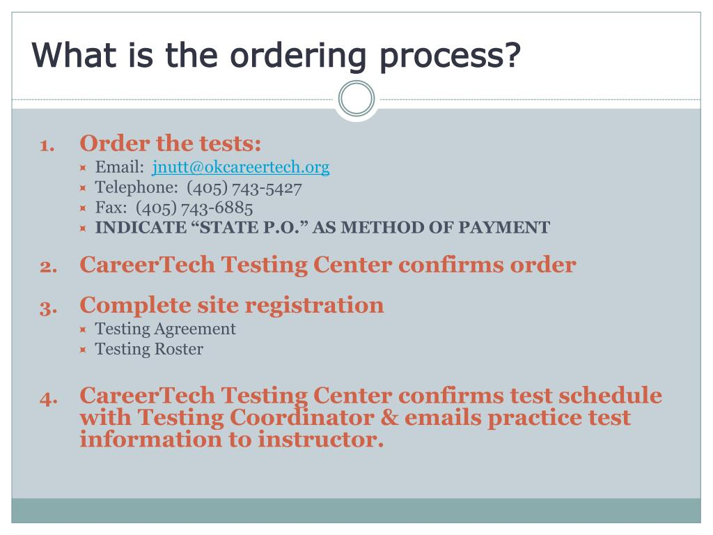 What is the ordering process?