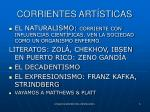 corrientes art sticas