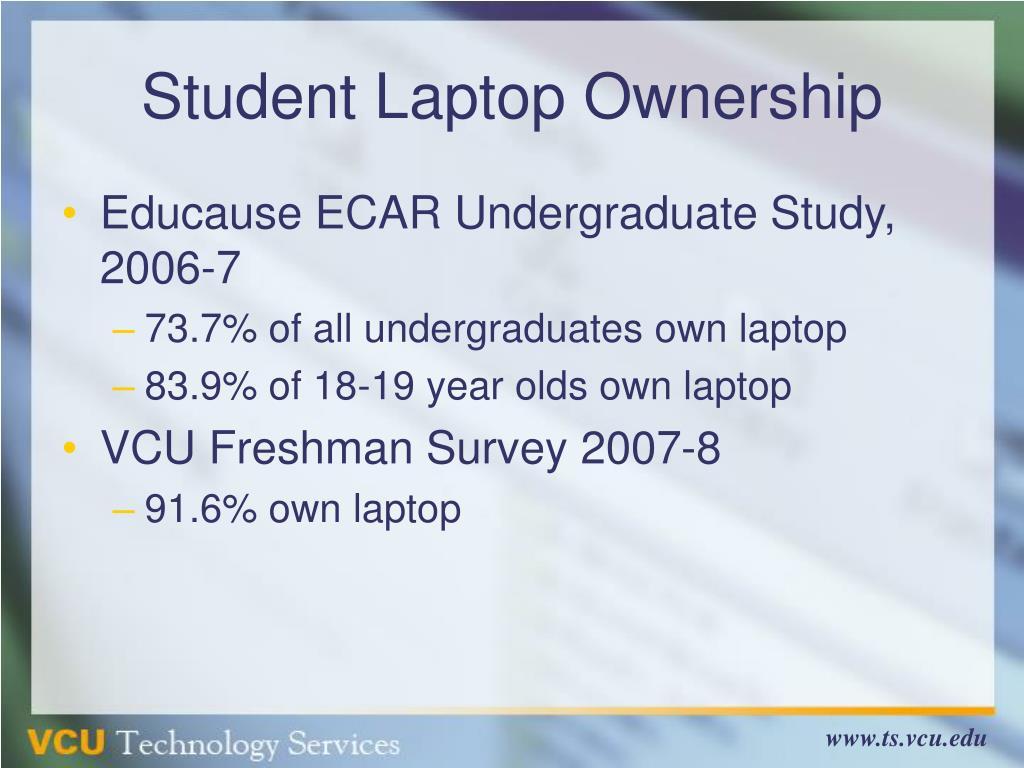 Student Laptop Ownership