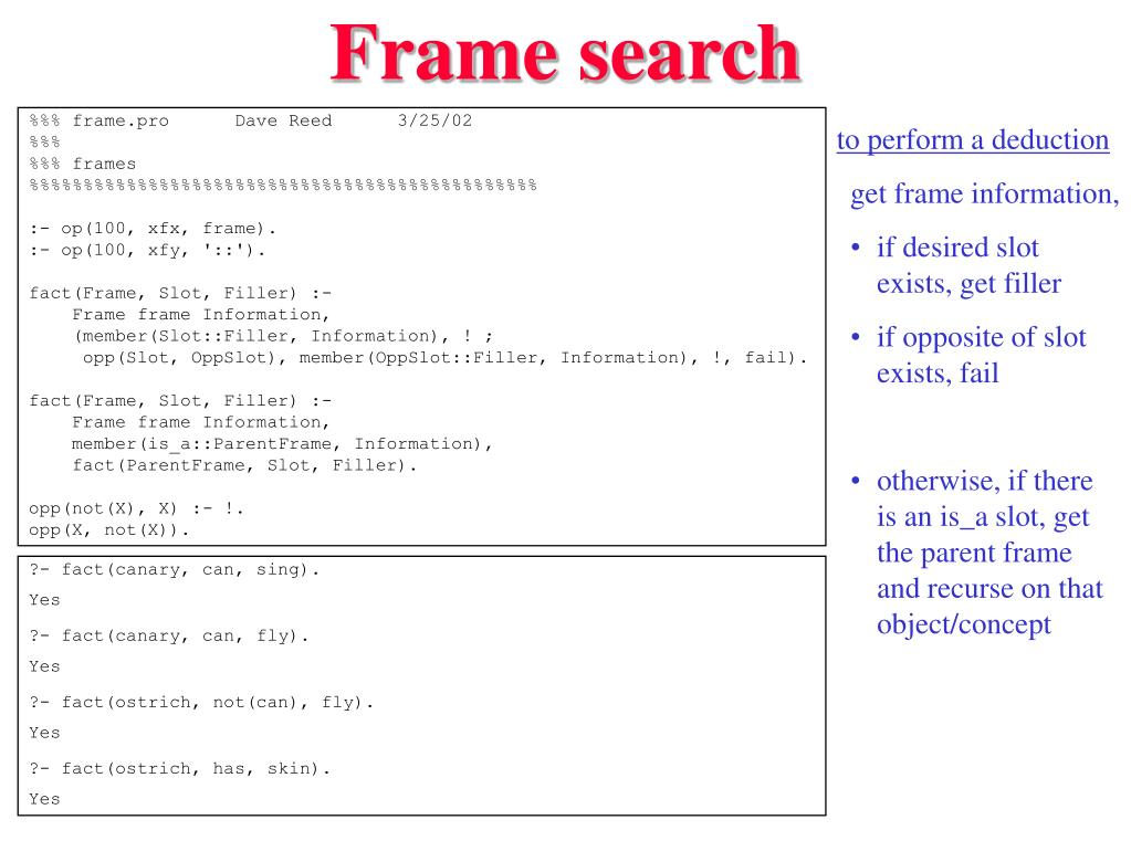 Frame search