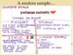 a student sample