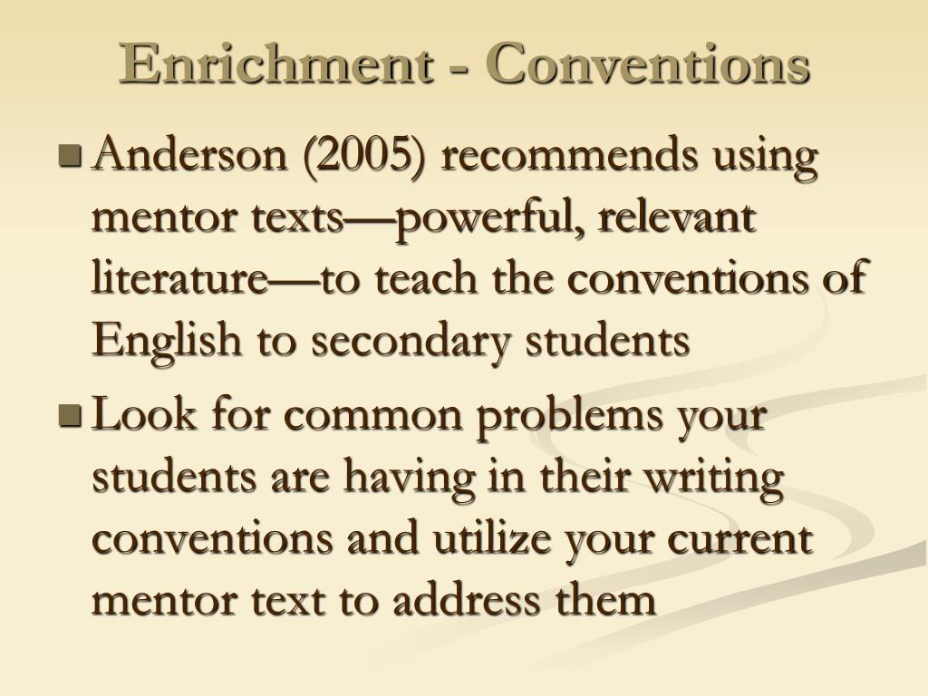 Enrichment - Conventions