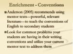 enrichment conventions