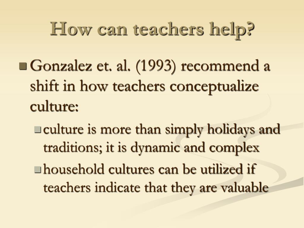 How can teachers help?