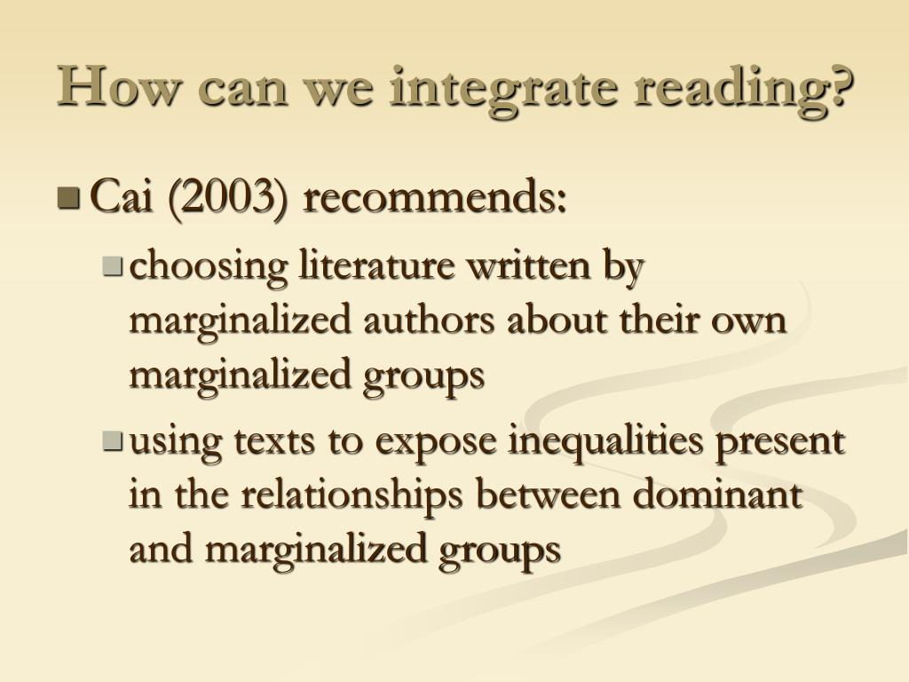 How can we integrate reading?