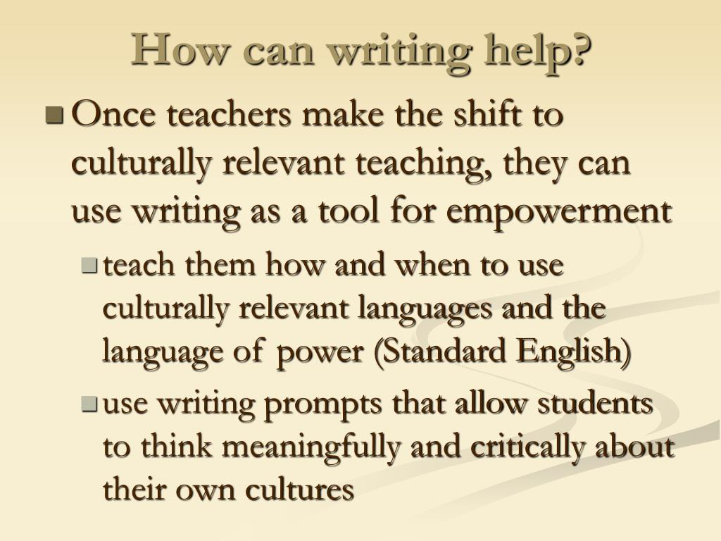 How can writing help?