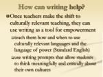 how can writing help