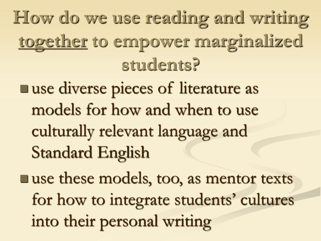 How do we use reading and writing