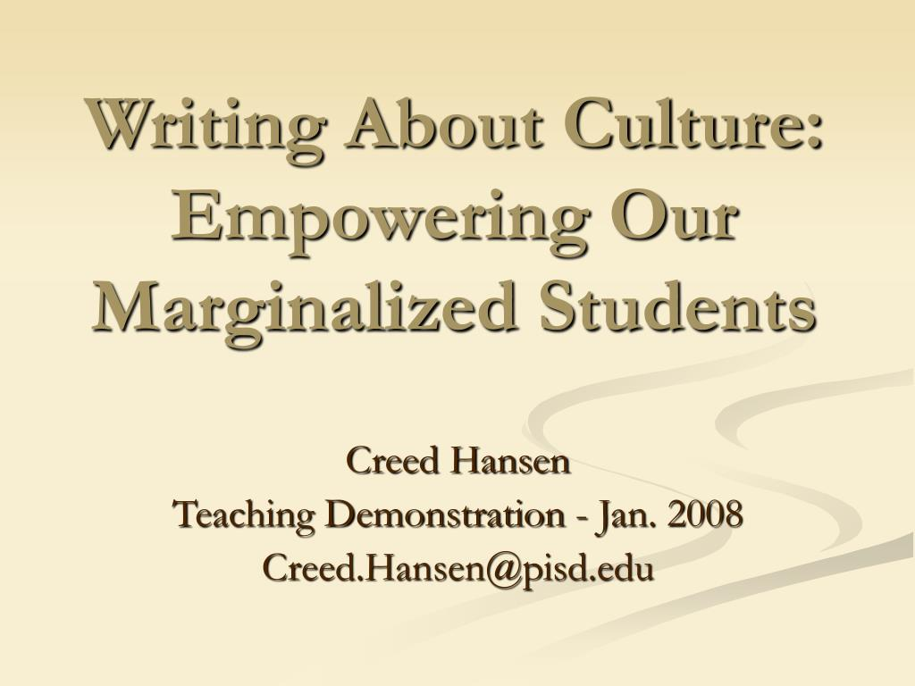 Writing About Culture: