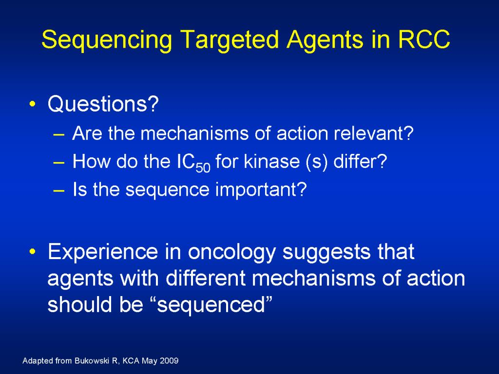 Sequencing Targeted Agents in RCC