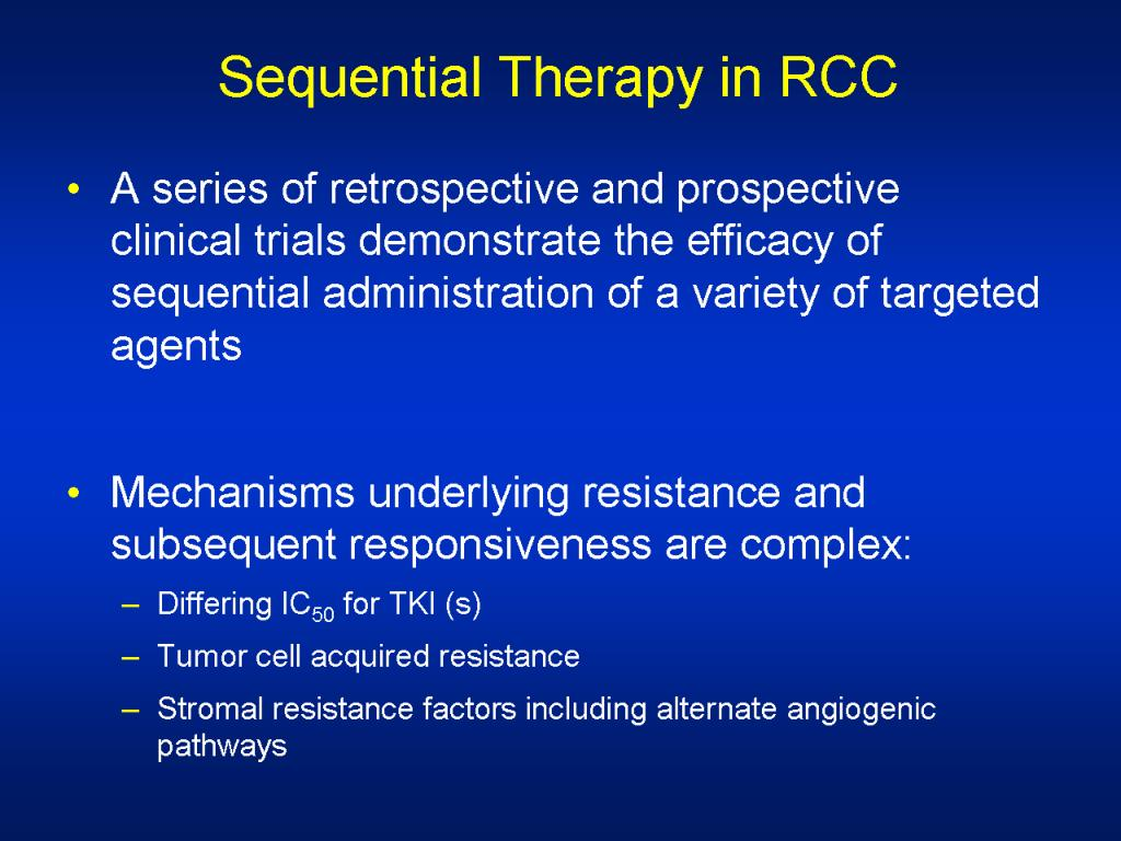Sequential Therapy in RCC