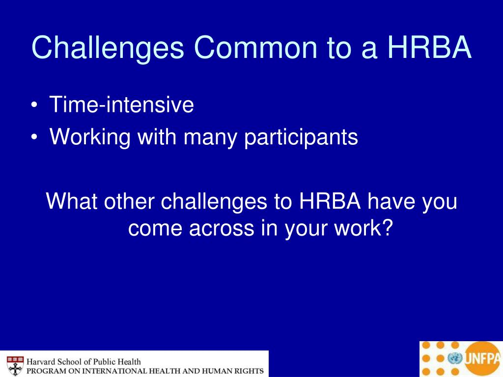 Challenges Common to a HRBA