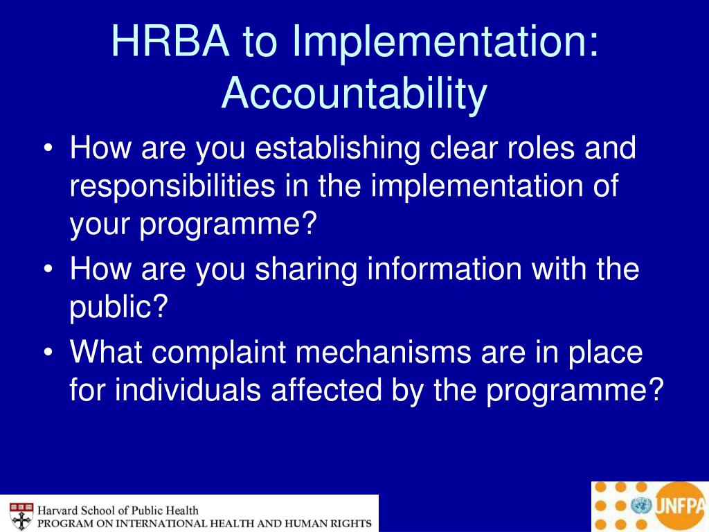 HRBA to Implementation: