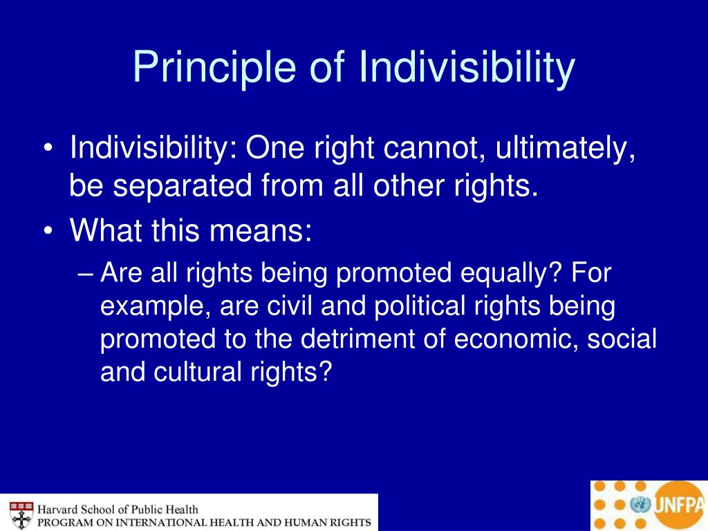 Principle of Indivisibility