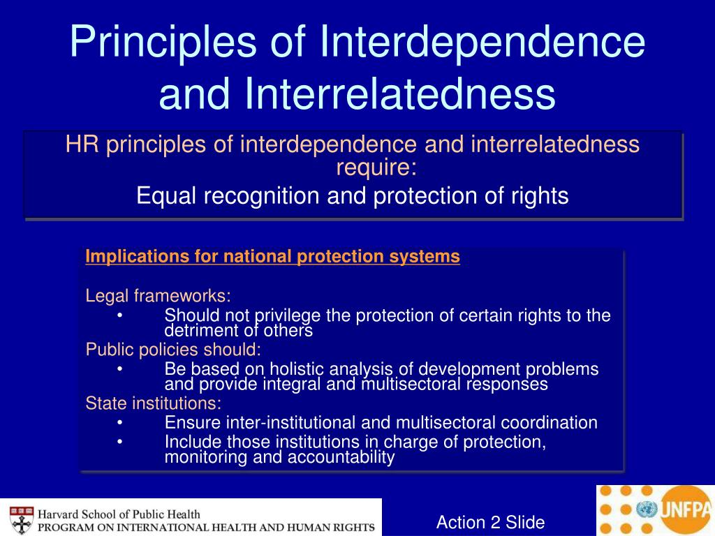 Principles of Interdependence and Interrelatedness