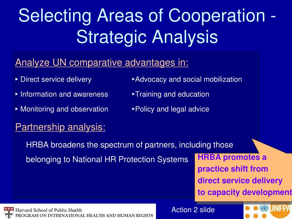 Selecting Areas of Cooperation -Strategic Analysis