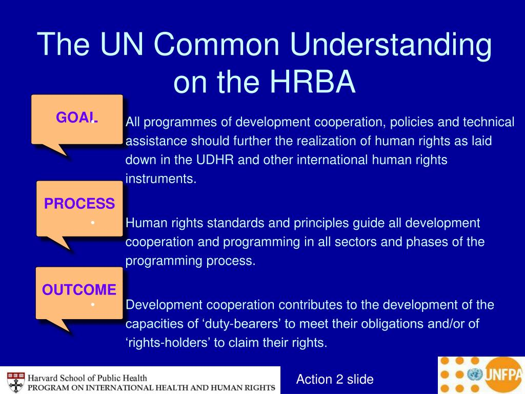 The UN Common Understanding on the HRBA