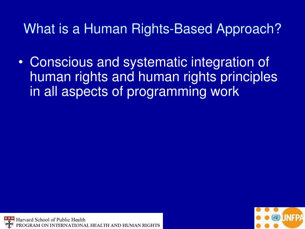 What is a Human Rights-Based Approach?