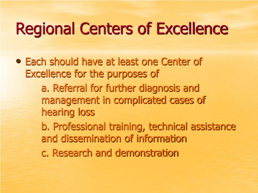 Regional Centers of Excellence