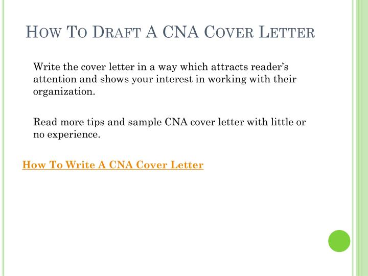 How to draft a cna cover letter3