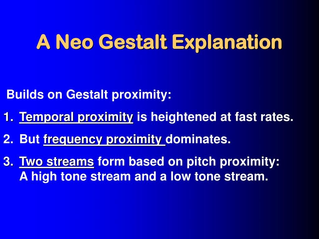 A Neo Gestalt Explanation