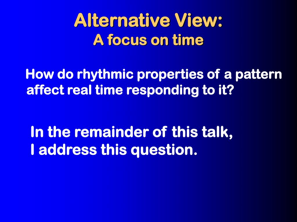 Alternative View: