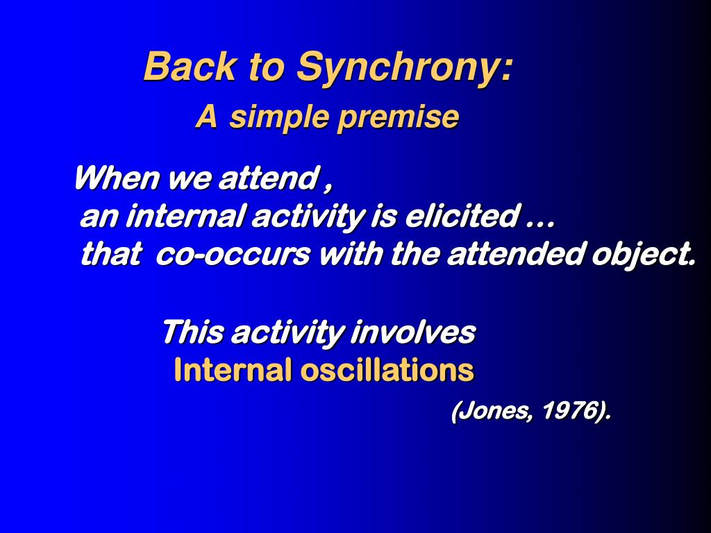Back to Synchrony: