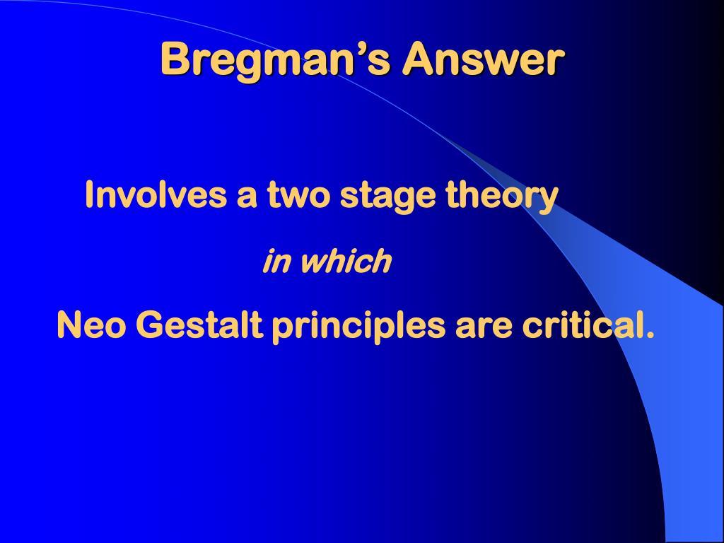 Bregman's Answer