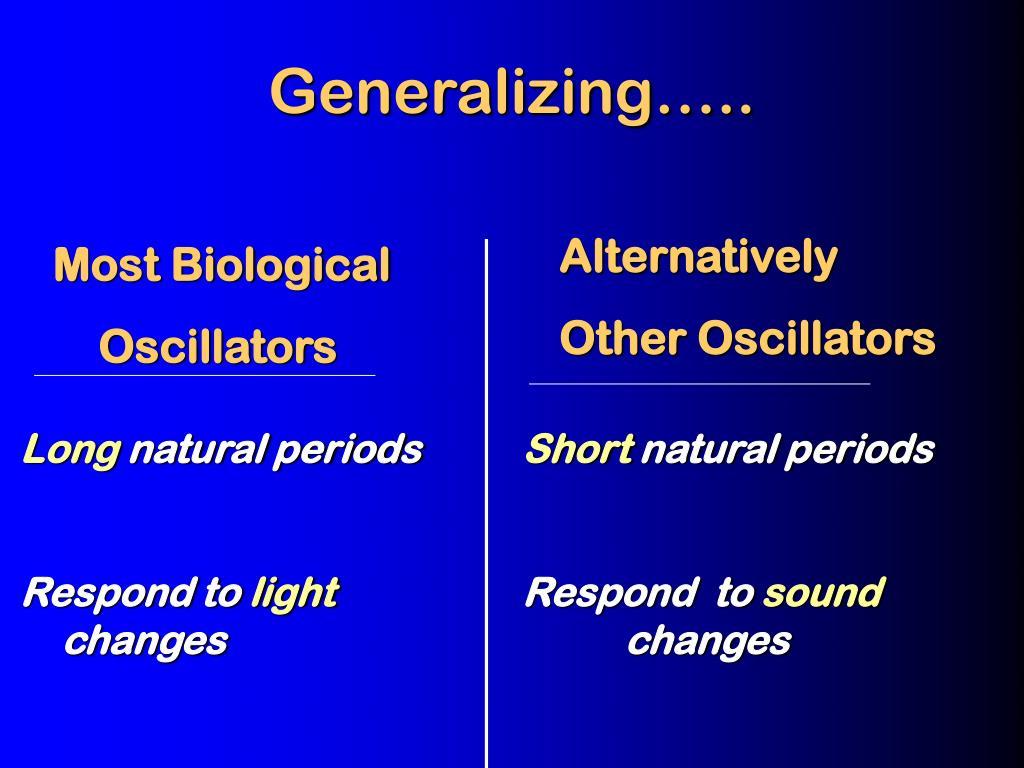 Generalizing…..