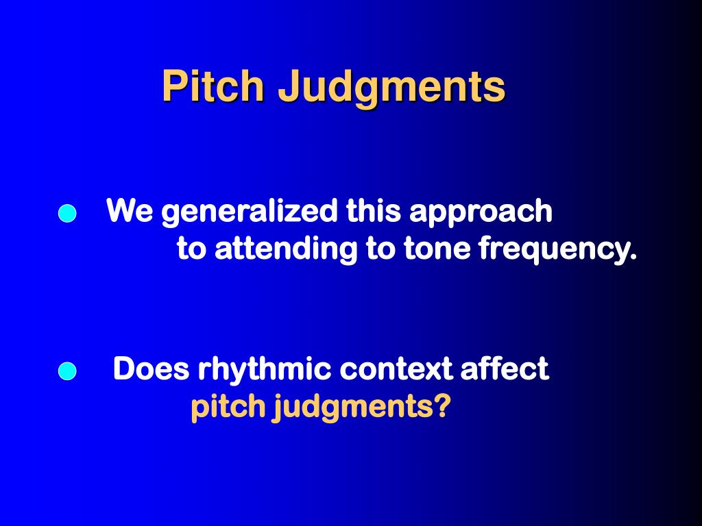 Pitch Judgments