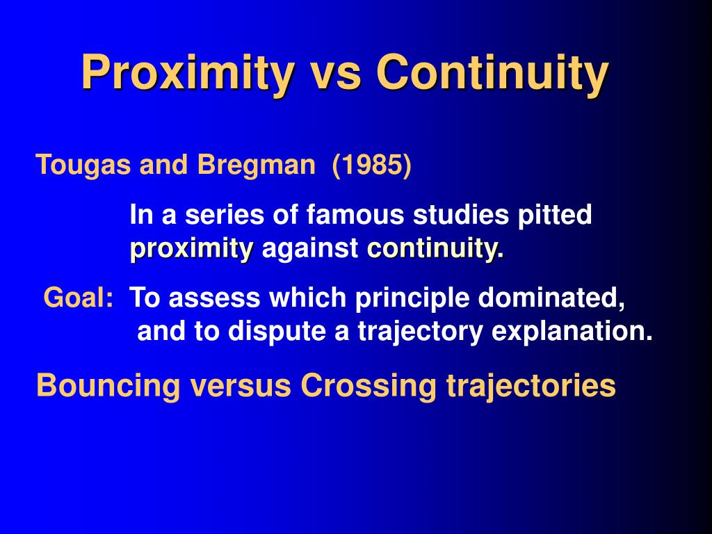 Proximity vs Continuity