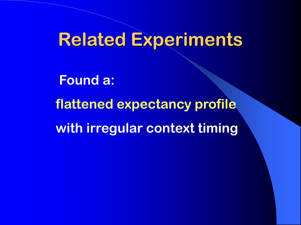 Related Experiments