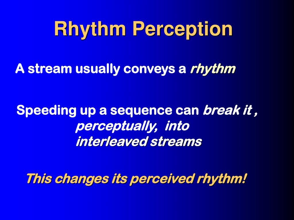 Rhythm Perception