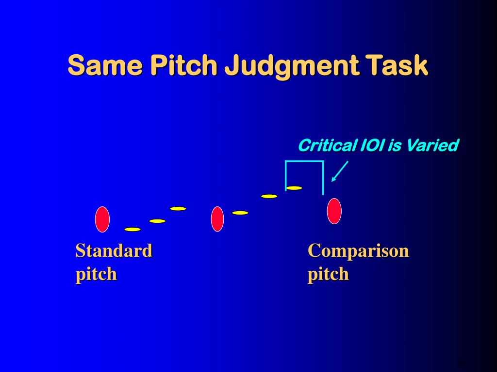 Same Pitch Judgment Task