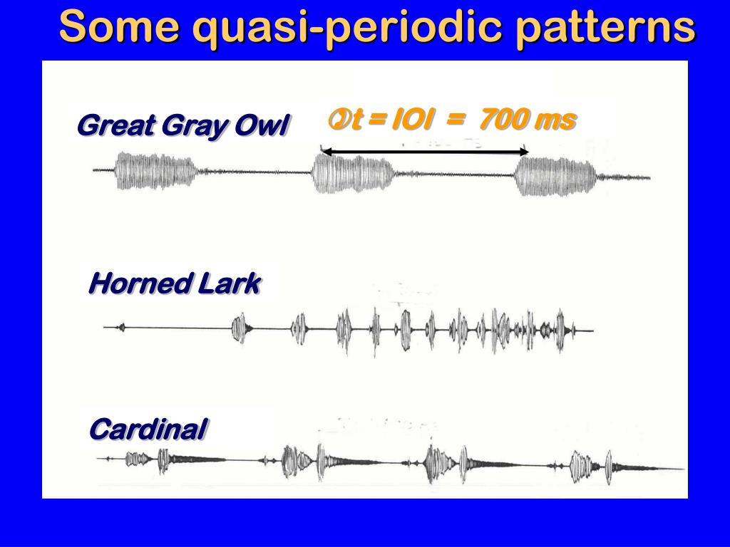 Some quasi-periodic patterns
