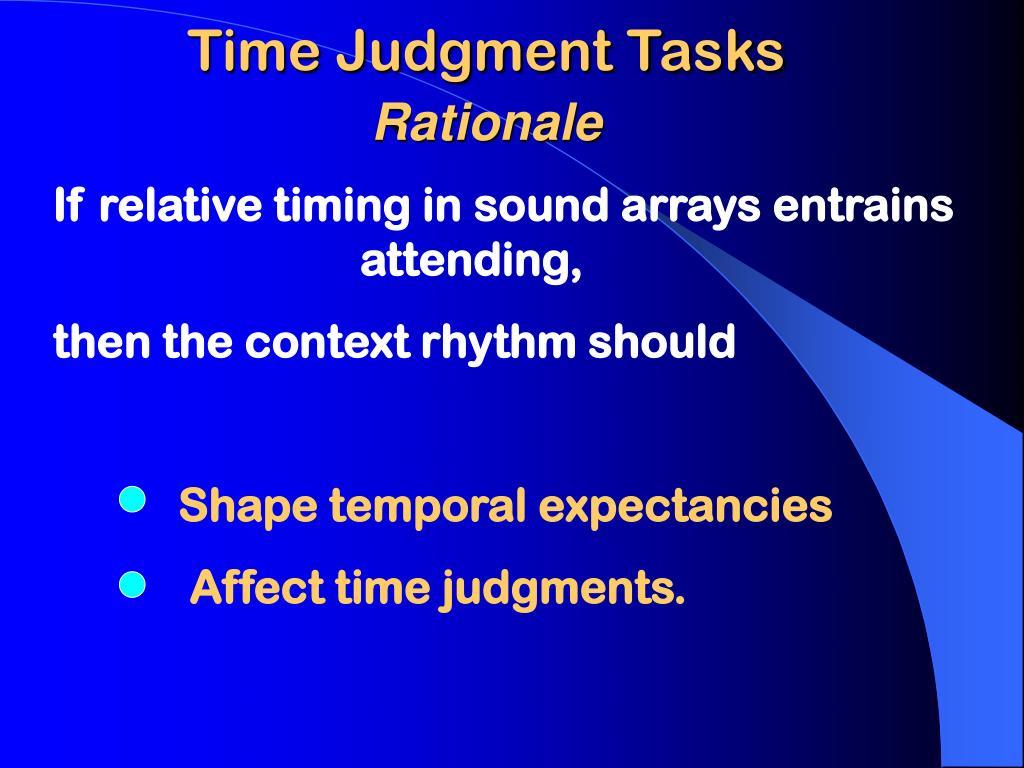 Time Judgment Tasks