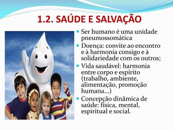 1.2. SAÚDE E SALVAÇÃO
