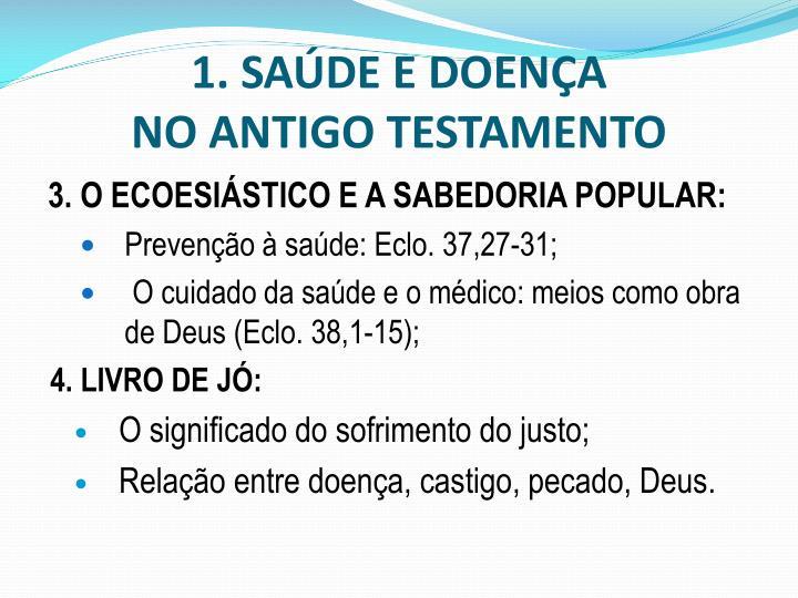 1. SAÚDE E DOENÇA