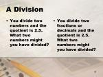 a division