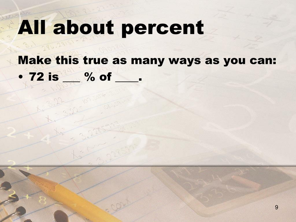 All about percent