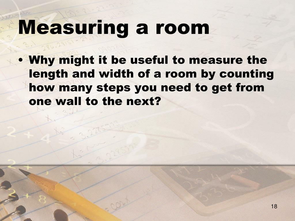 Measuring a room