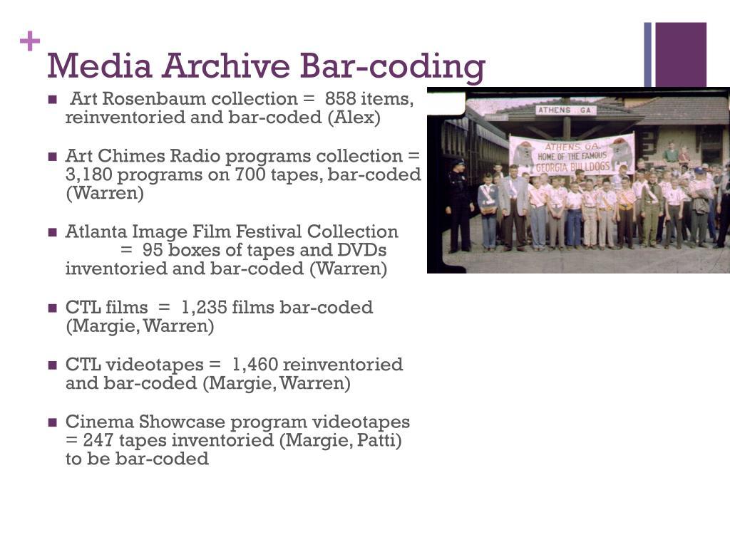 Media Archive Bar-coding