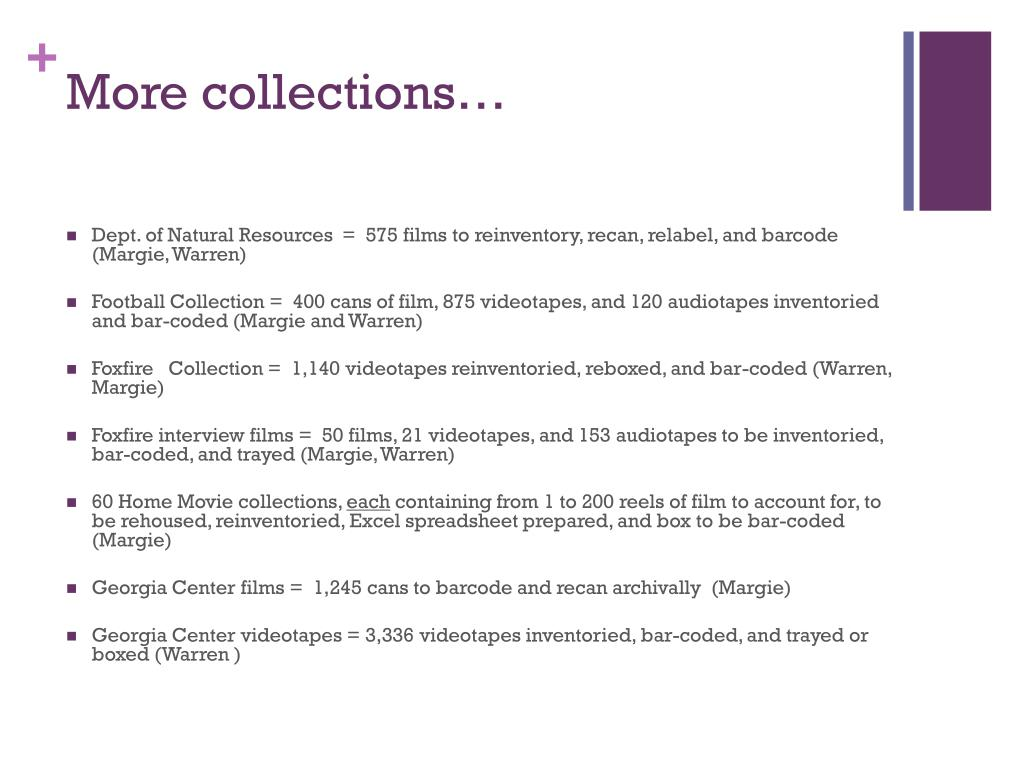 More collections…